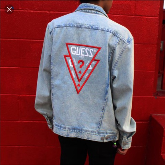 2bee3f42d39 Guess Jackets   Blazers - asap rocky x guess jean jacket